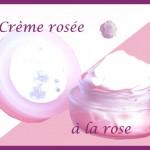 Crème rosée à la rose
