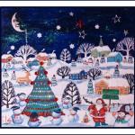Mon cadeau :  Tableau de noël et carte de voeux