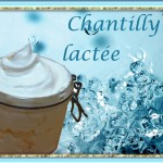 Chantilly lactée de douche